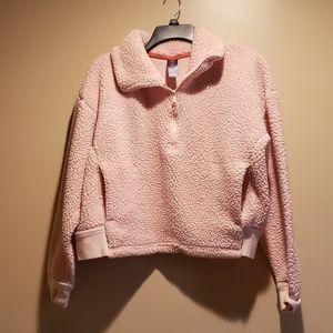 Medium Pink Champion Fluffy Crop Pullover
